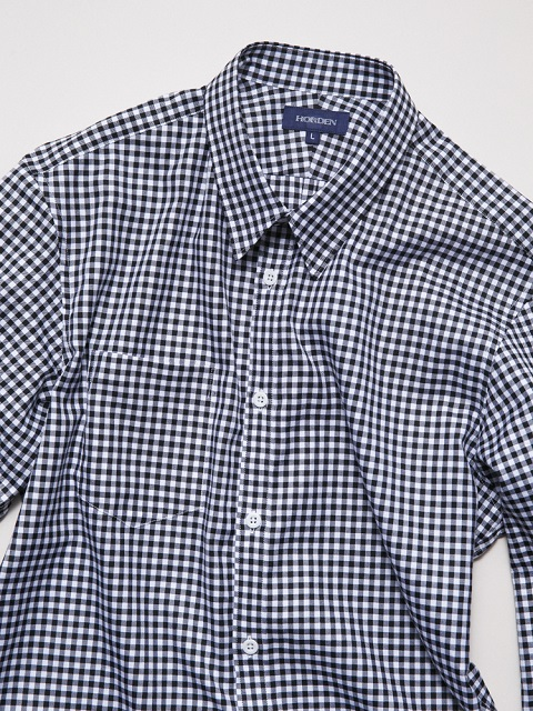 Gingham Check Shirts Black Large
