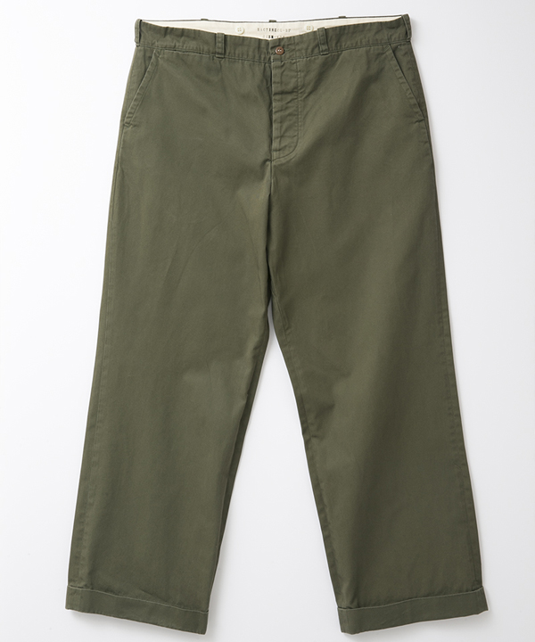 BF-10-054 RAGTIME CHINO CLOTH TROUSERS(AGED) ARMY GREEN 1
