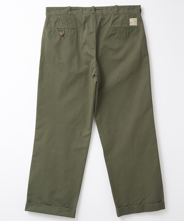 BF-10-054 RAGTIME CHINO CLOTH TROUSERS(AGED) ARMY GREEN 2