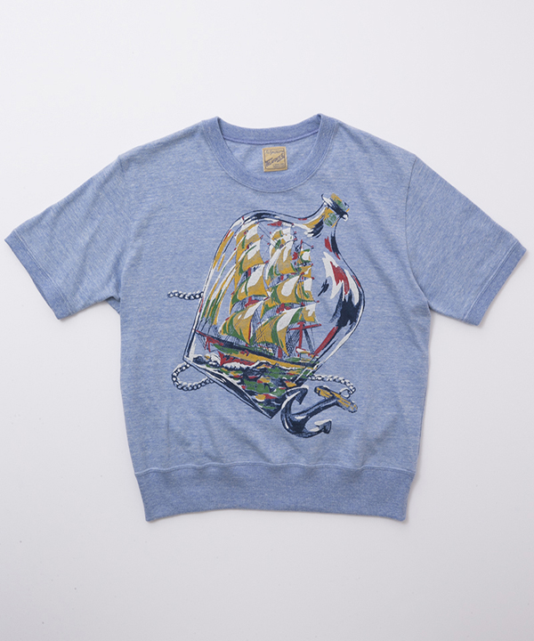 BF-13-018 RAGTIME PLAYSHIRTS SHIP T HEATHER BLUE 1