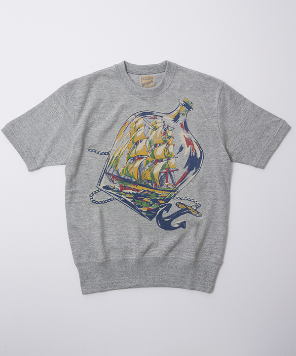 BF-13-018 RAGTIME PLAYSHIRTS SHIP T HEATHER GREY 1