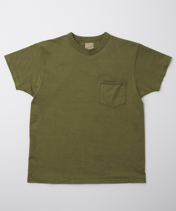 BF-13-048 RAGTIME DROP NEEDLE RIB PKT SS TEE ARMY GREEN 1