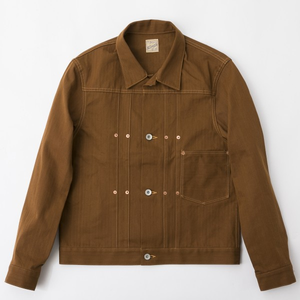 BF-14-007・RAGTIME HERRINGBONE ONO JACKET・BROWN 1