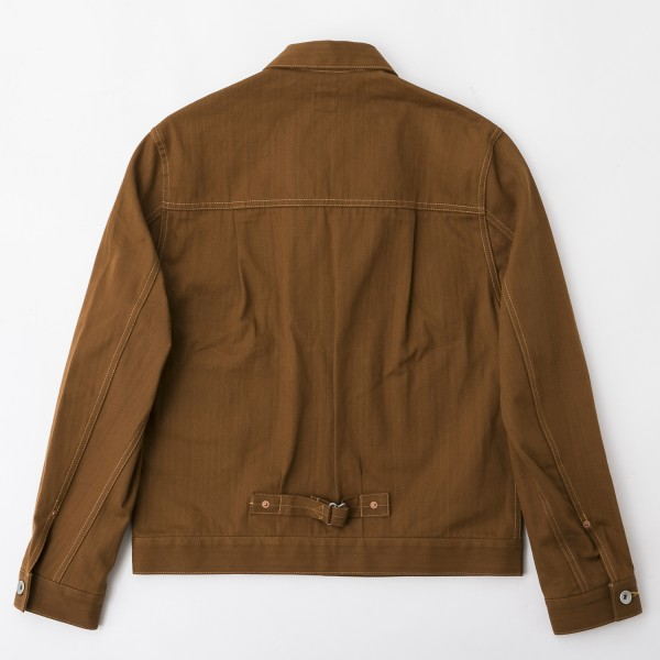 BF-14-007・RAGTIME HERRINGBONE ONO JACKET・BROWN 2