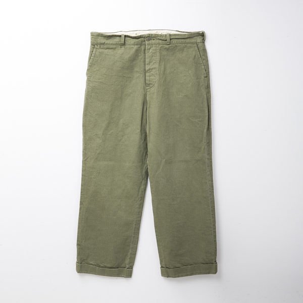 BF-14-017・RAGTIME HERRINGBONE TROUSERS・ARMY GREEN 1