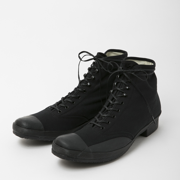 BF-14-049・RAGTIME CAP TOE CANVAS BOOTS・BLACK 1